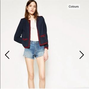 The Kooples Navy Tweed Jacket